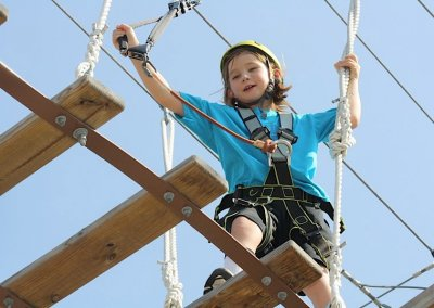 child climbing outdoors in charleston