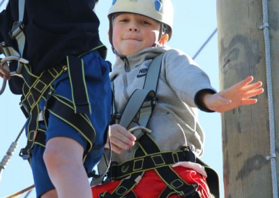 kids on the ropes course in charleston