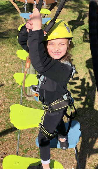 kids climb, wild blue ropes, ropes course, charleston attraction