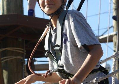 kids climbing in charleston, wild blue ropes