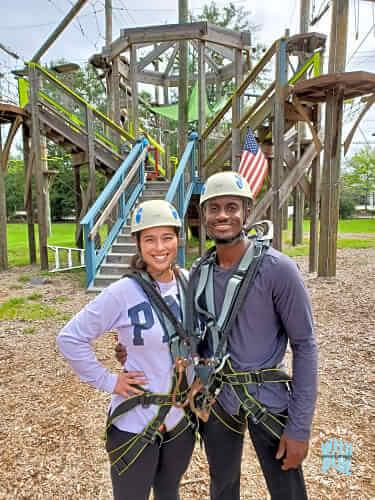 Couples Night Climb at Wild Blue Ropes Charleston